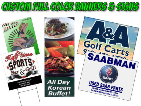 Full Color Customer Banners and Signs